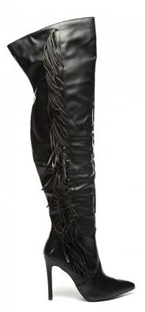 cizme negre lungi