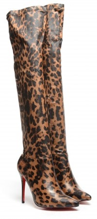 cizme leopard peste genunchi