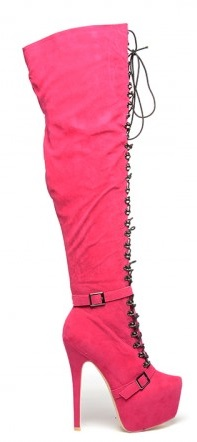 cizme lungi roz