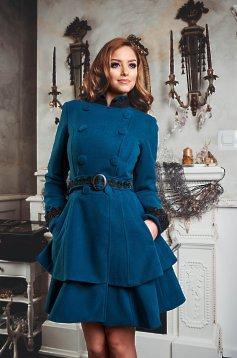 Palton Dama Turquoise