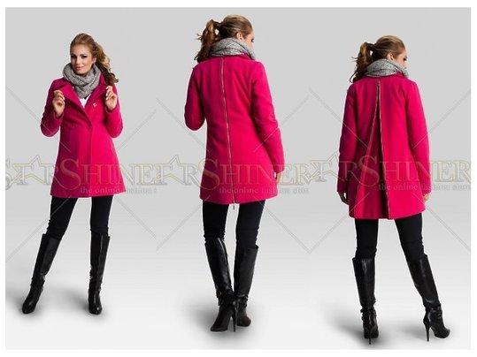 palton roz gravide