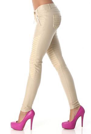 pantaloni piele acologica