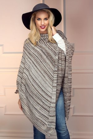 poncho asimetric tricotat