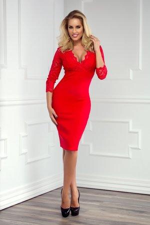 rochie cu dantela rosie
