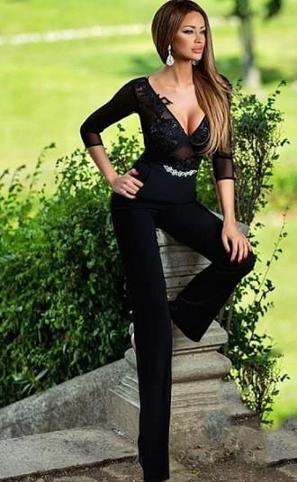 salopeta neagra sexy
