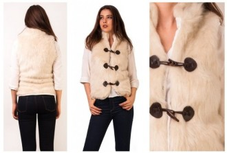 vesta de blana crem
