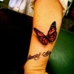 fluture tatuaj 3d