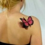 tatuaj 3d fluture
