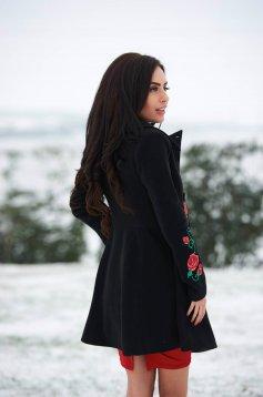 palton de iarna negru