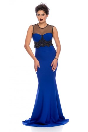 rochie albastra catifea