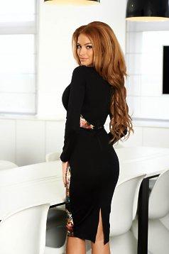 rochie neagra cu imprimeu