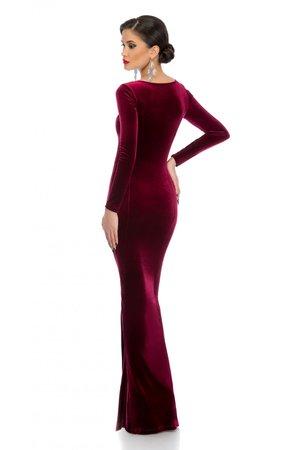 rochie lunga catifea