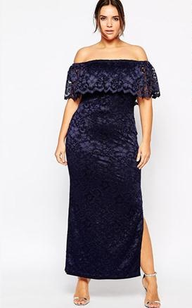 rochie lunga dantela