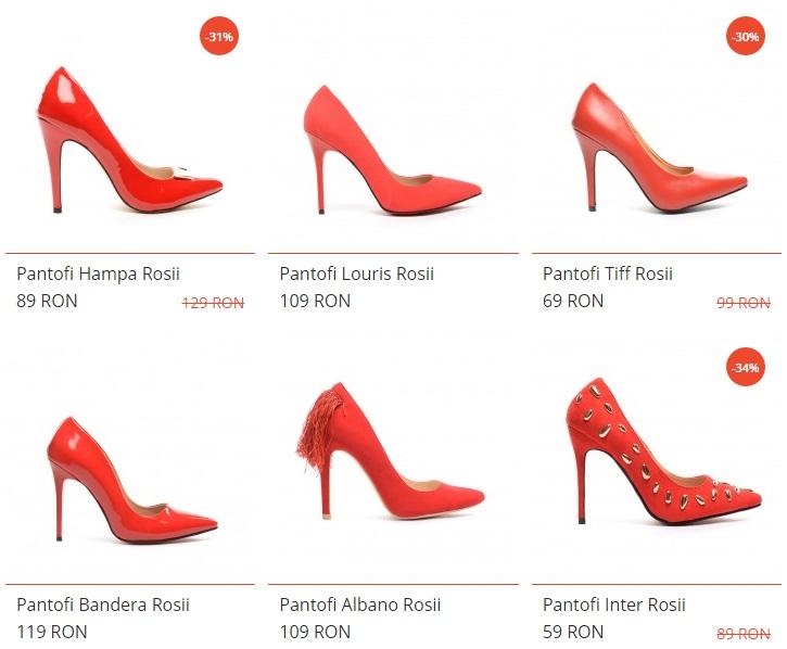 pantofi stileto rosii