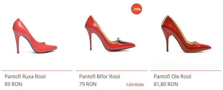 pantofii rosii stileto