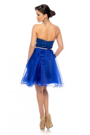 rochie albastra baby doll
