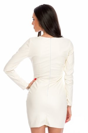 rochie alba scurta
