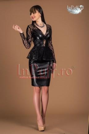 rochie piele neagra