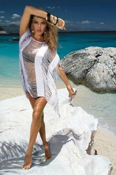 rochie alba de plaja