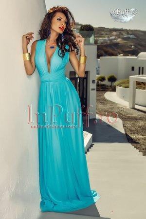 rochie lunga bleu