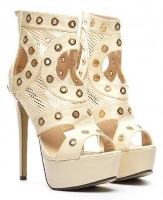 sandale albe cu toc