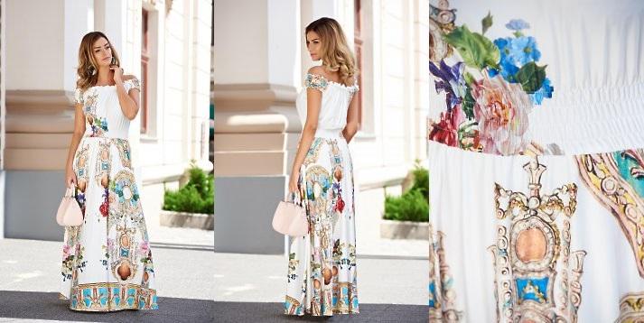 rochie maxi alba