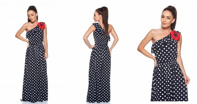 rochie maxi cu buline