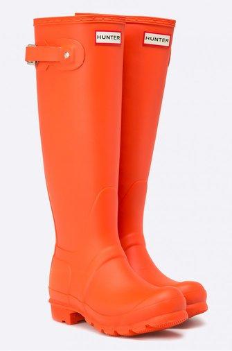 cizme portocalii cauciuc