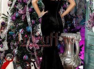 rochie neagra catifea