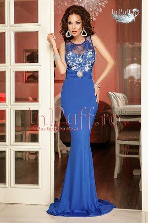 rochie lunga albastra