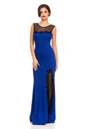 rochie albastra cu dantela