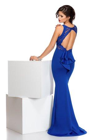 rochie albastra cu spatele gol