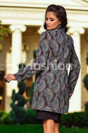 palton maro cu imprimeu