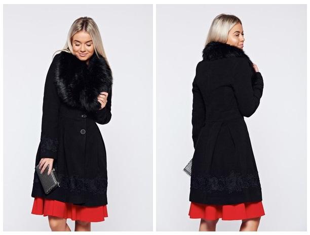 palton negru ladonna