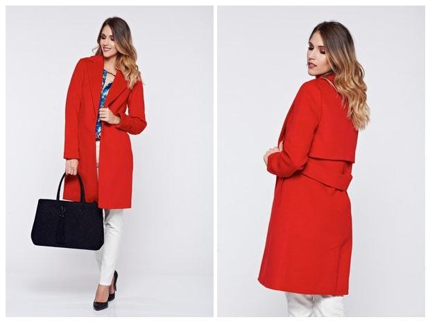 palton rosu