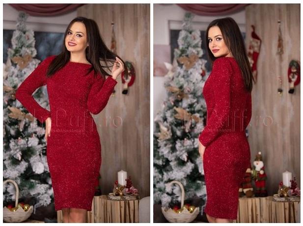 rochie eleganta tricotata