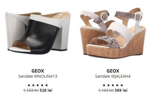 sandale cu toc gros geox