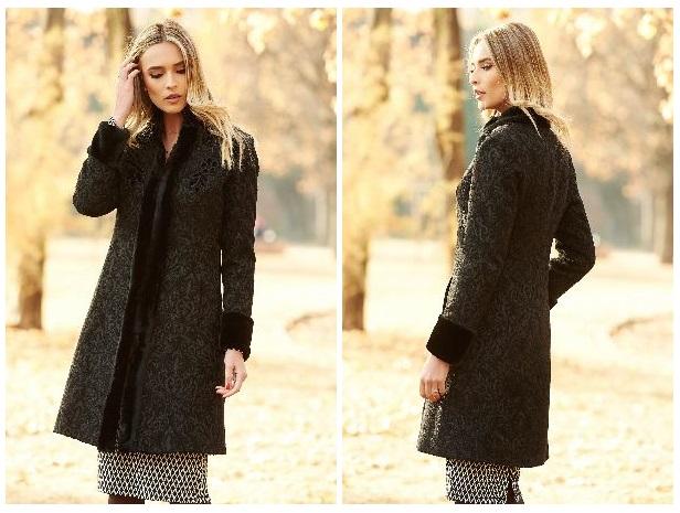 palton dama negru