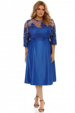 rochie xxl albastra
