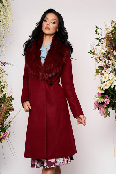 palton visiniu elegant