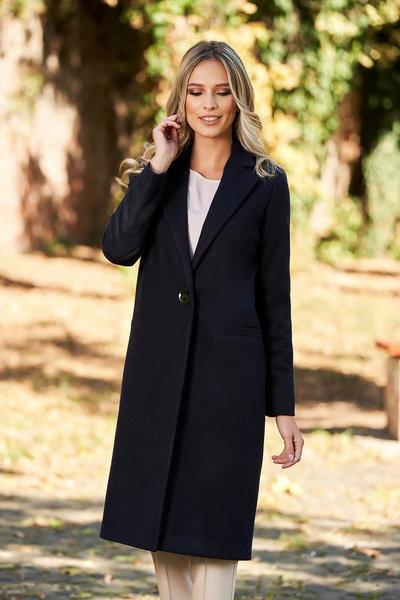 palton albastru elegant
