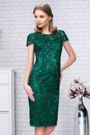 rochie midi din dantela