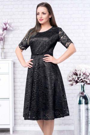 rochie neagra plus size