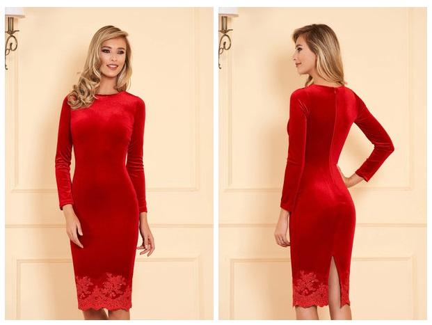 rochie rosie de ocazie