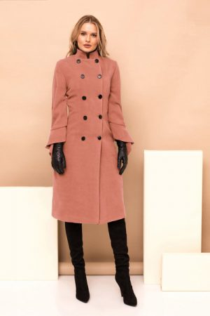 palton roz prafuit