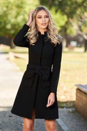 palton negru elegant