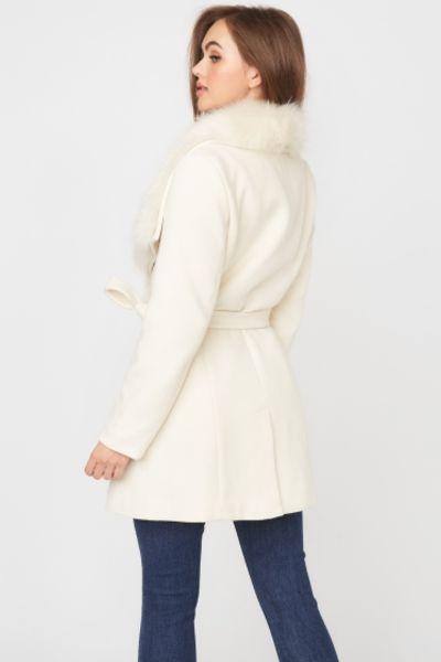 palton alb dama