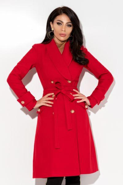 palton rosu stofa