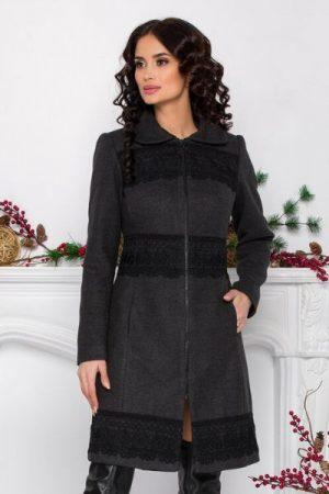 palton antracit dama