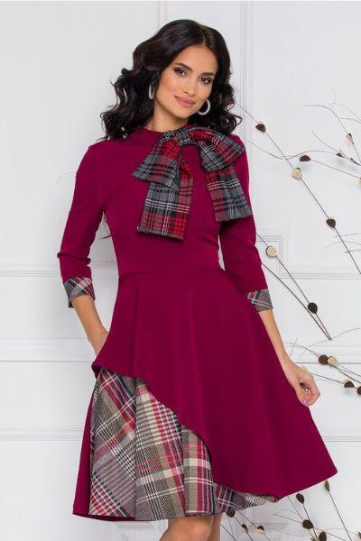 rochie bordo eleganta